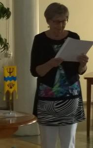 Maila Kekäläinen piti esitelmän Riistaveden Hätisistä ja Kekäläisistä.